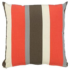 John Lewis Scatter Cushion, Flame Stripe, 40x40cm