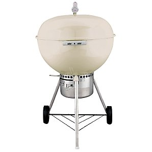 Weber One Touch Gold Charcoal Barbecue, 57cm, Bone