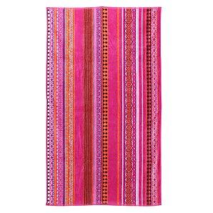 John Lewis Stripe Beach Towel, Pink