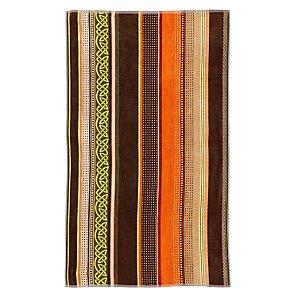 John Lewis Ethnic Stripe Beach Towel, Brown / Green