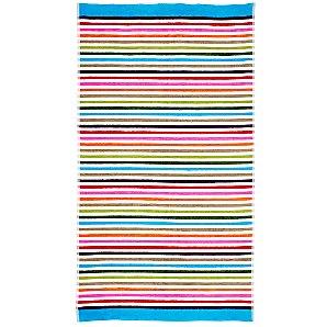John Lewis Bold Stripe Beach Towel, White / Multi