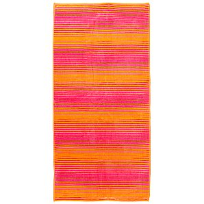 John Lewis Shadey Stripe Beach Towel, Pink