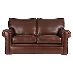 John Lewis Romsey Medium Leather Sofa, Murano