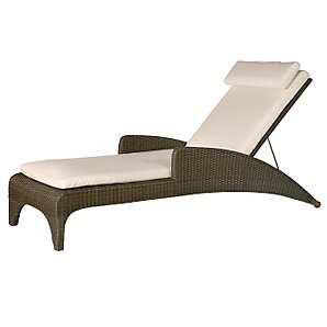 Barlow Tryie Savannah Sunlounger Cushion, White Sand