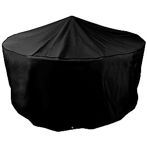 Garden Circular Patio Set Cover, 4-6 Seater, Black
