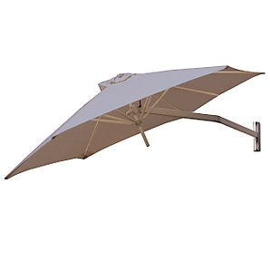 Paraflex Wall-Mounted Parasol, 2.7m, Taupe