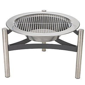 John Lewis Stainless Steel Firepit