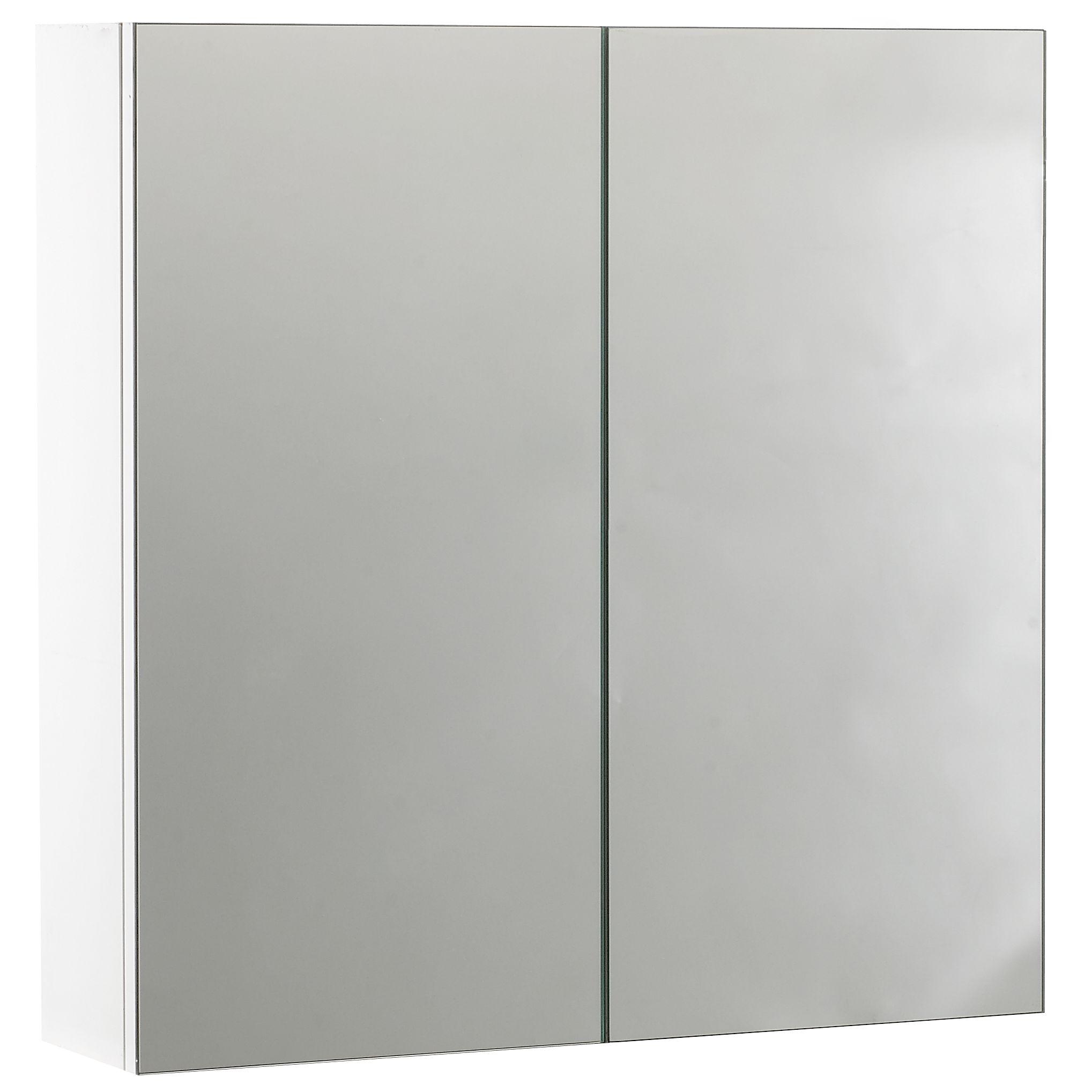 John Lewis Double Door Bathroom Cabinet, White at John Lewis