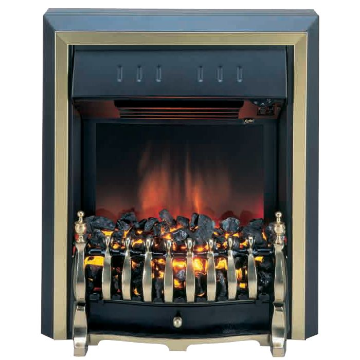 Burley Fuel-Effect Electric Fire, Rotherby 531-R, Brass at John Lewis