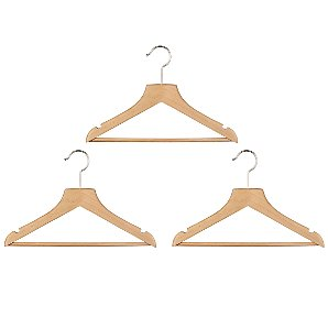 John Lewis Children's Wood Hangers, Pack of 3