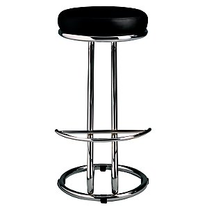 John Lewis Z Bar Stool, Black product image