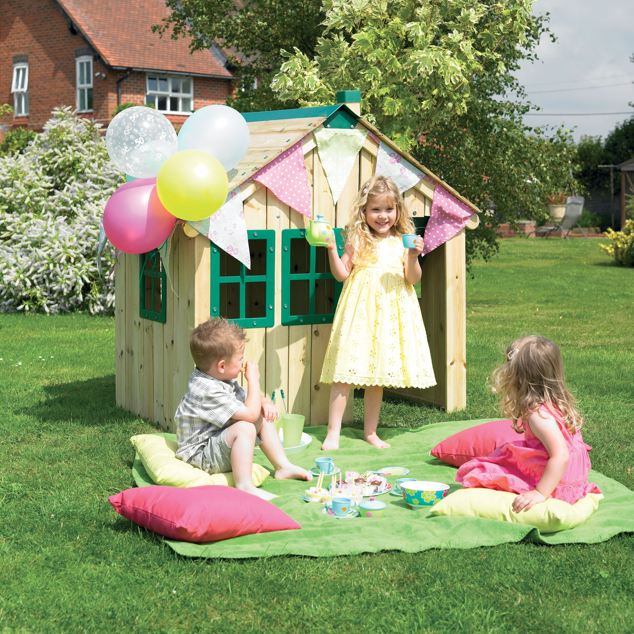 TP517 Forest Cabin Wooden Playhouse