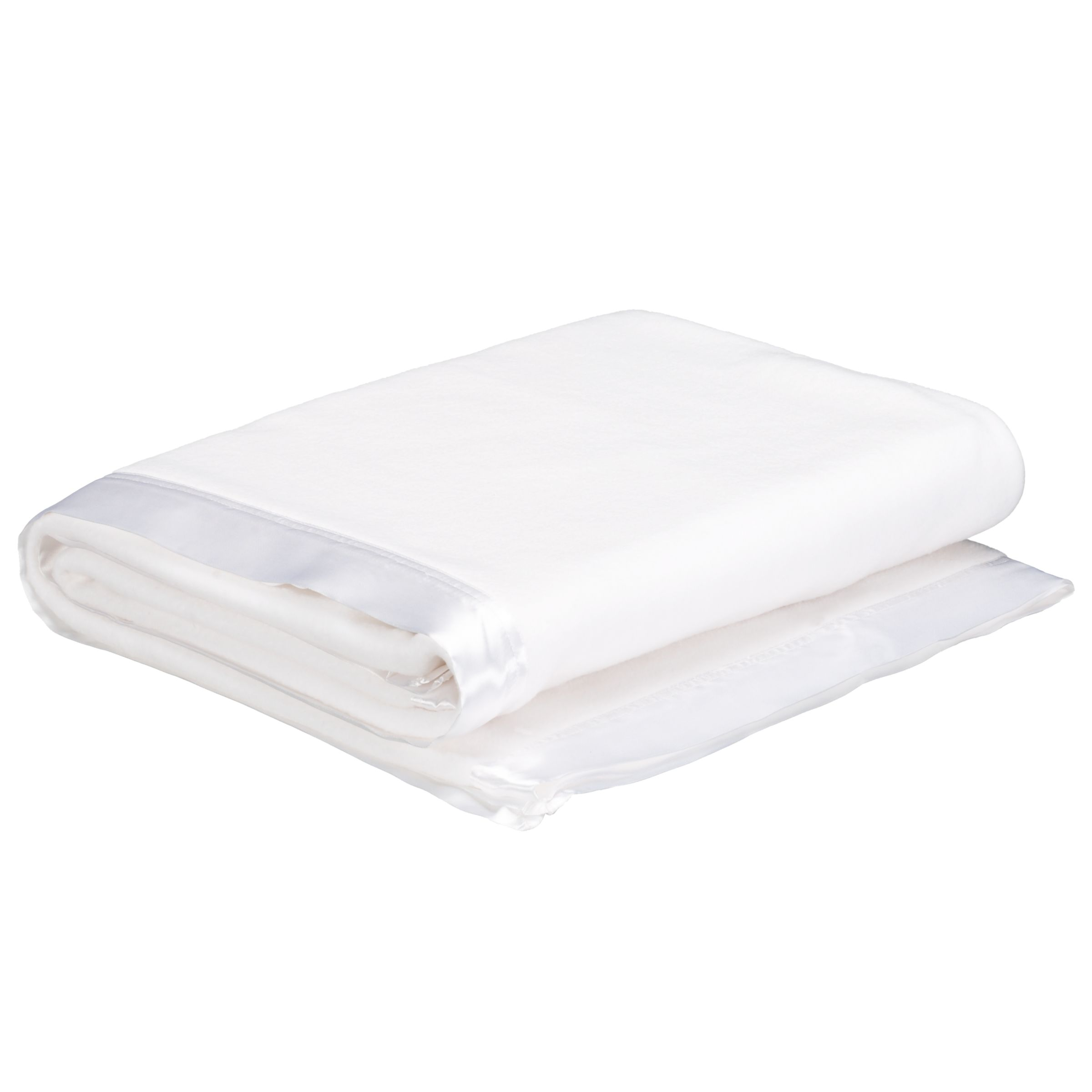 Cotbed Satin Edge Blanket, White