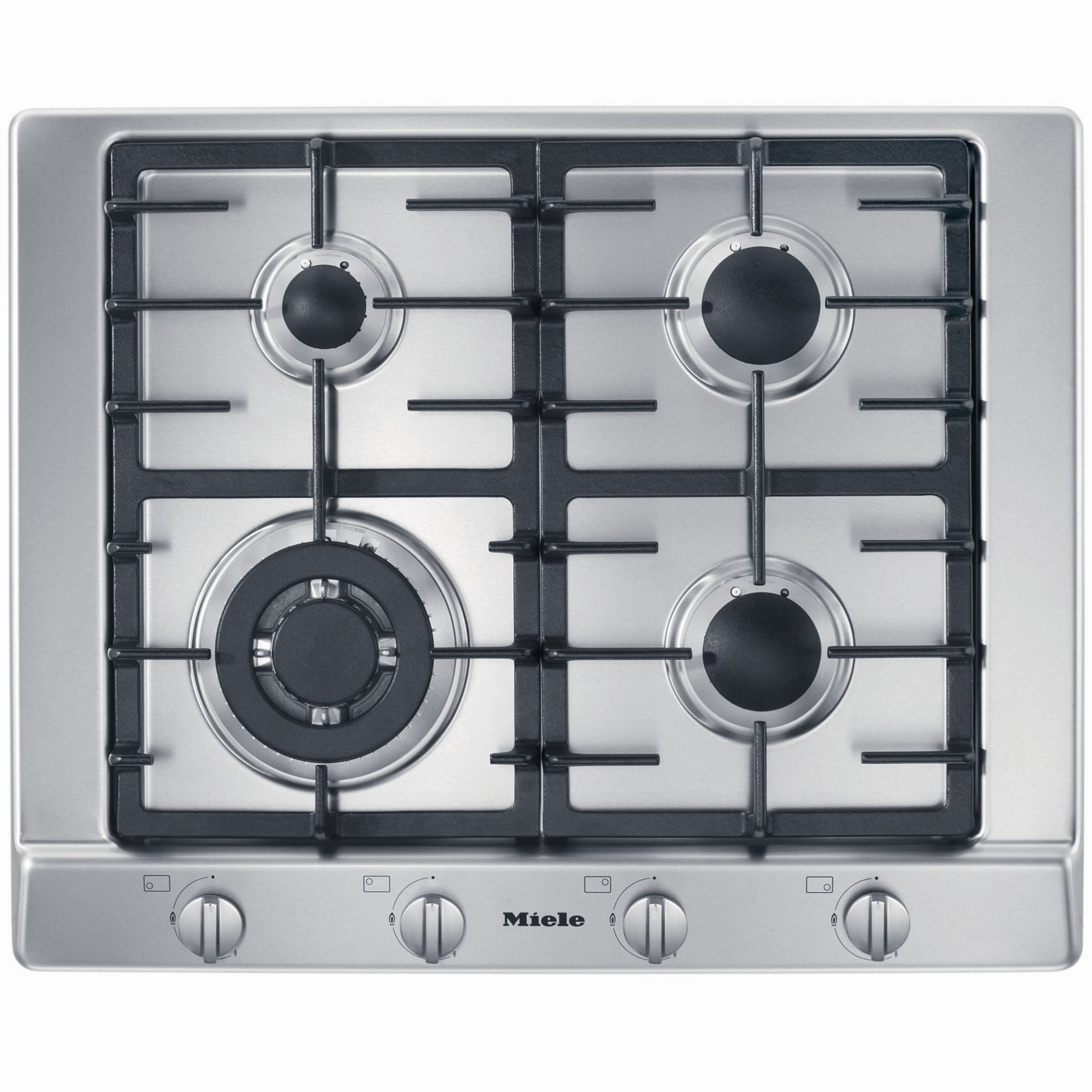 Miele KM362-1G Gas Hob, Stainless Steel at John Lewis