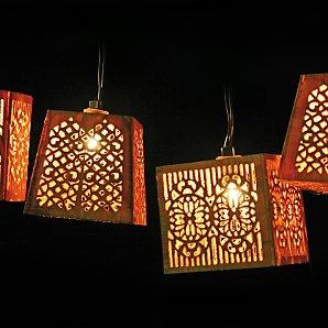 Bamboo Effect Line Lights