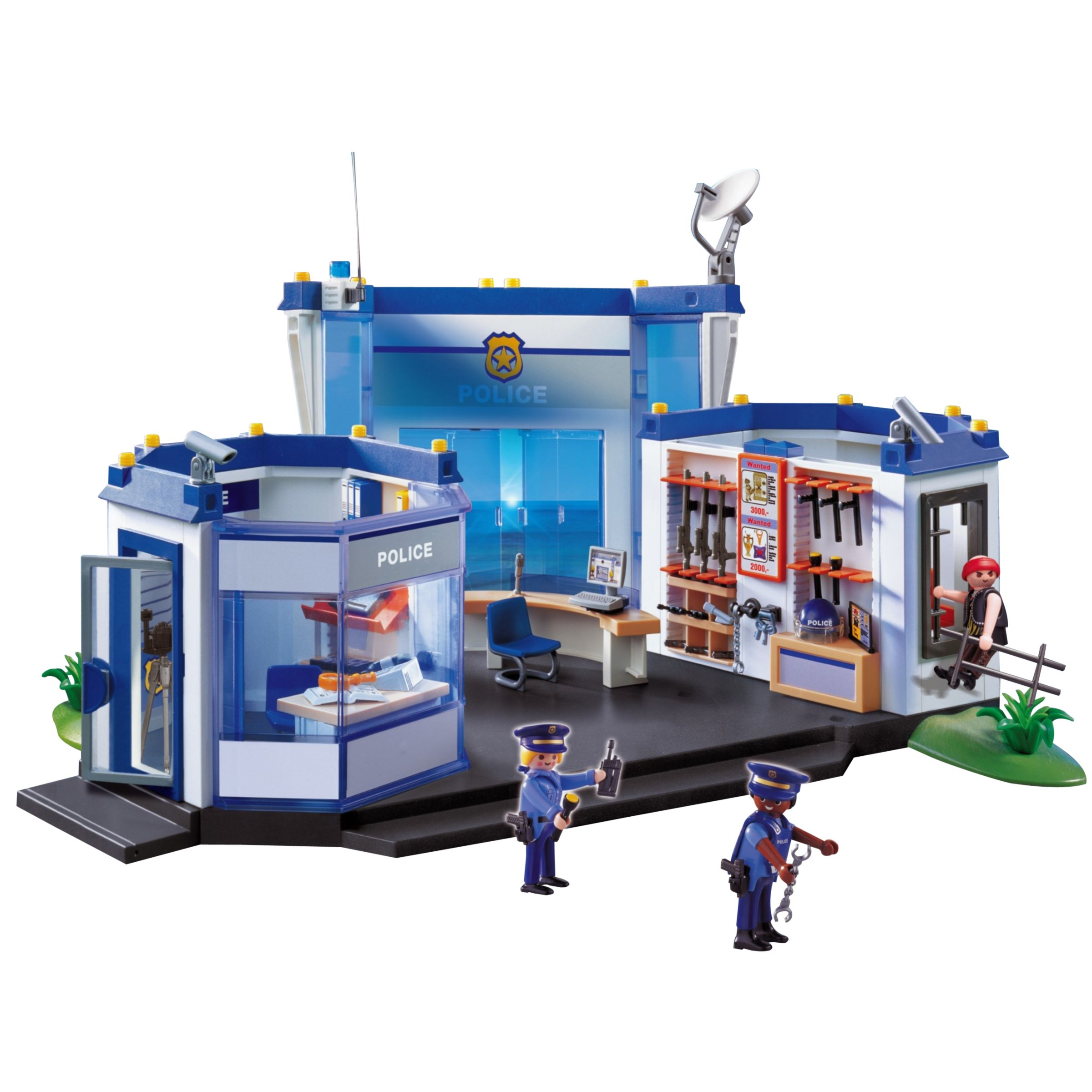 Playmobil 4263 police pompier figurine maison camion voiture train western 1 ebay - Playmobil camion police ...