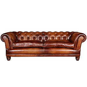 John Lewis Chatsworth Medium Leather Sofa