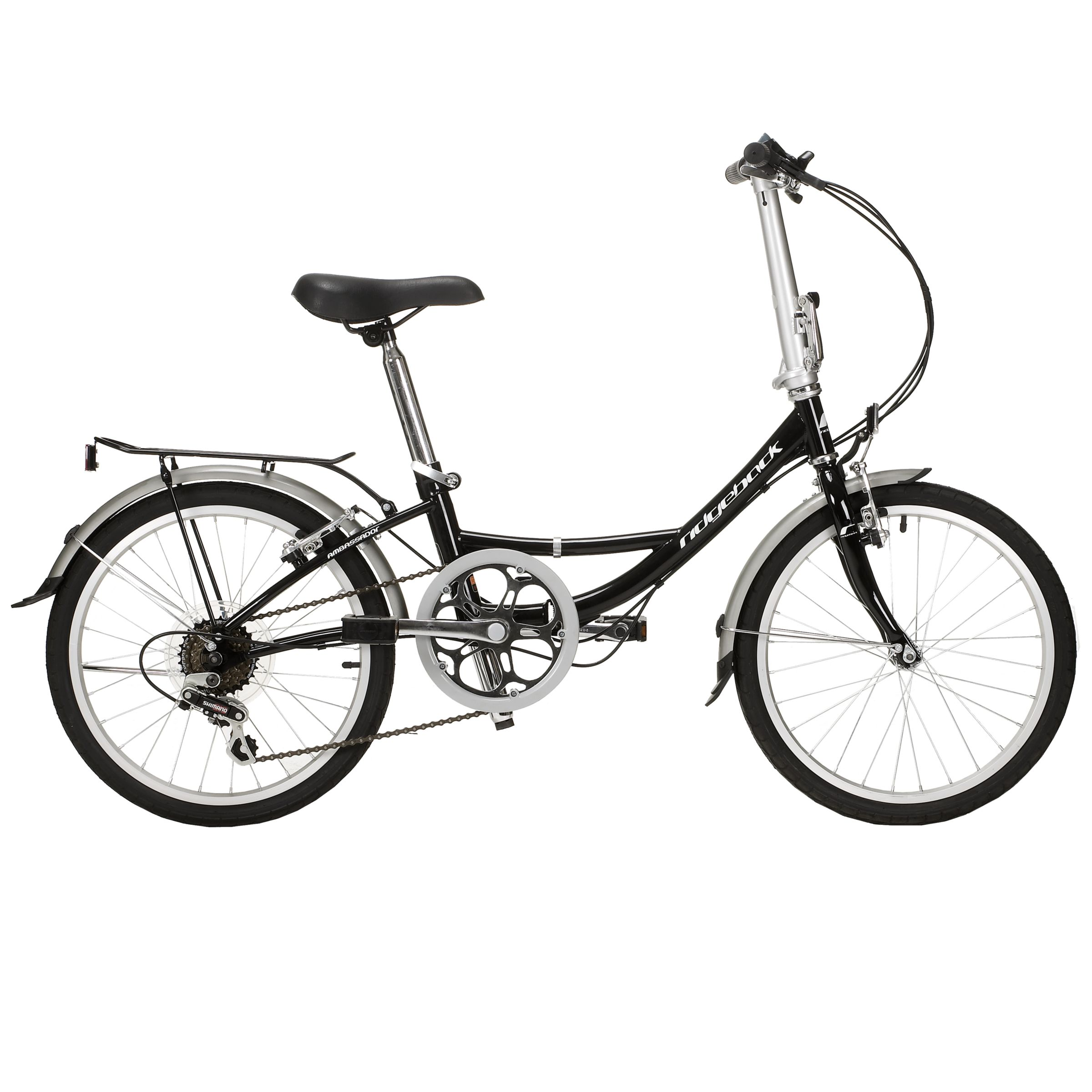 Ridgeback Ambassador Folding Bike, Unisex, Black
