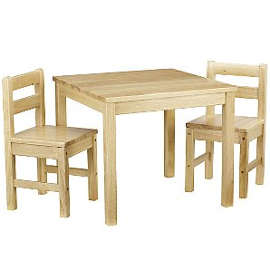 John Lewis Classic Table and Chairs, Natural