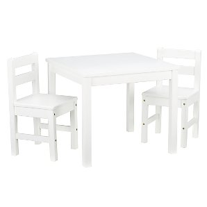 John Lewis Classic Table and Chairs, White