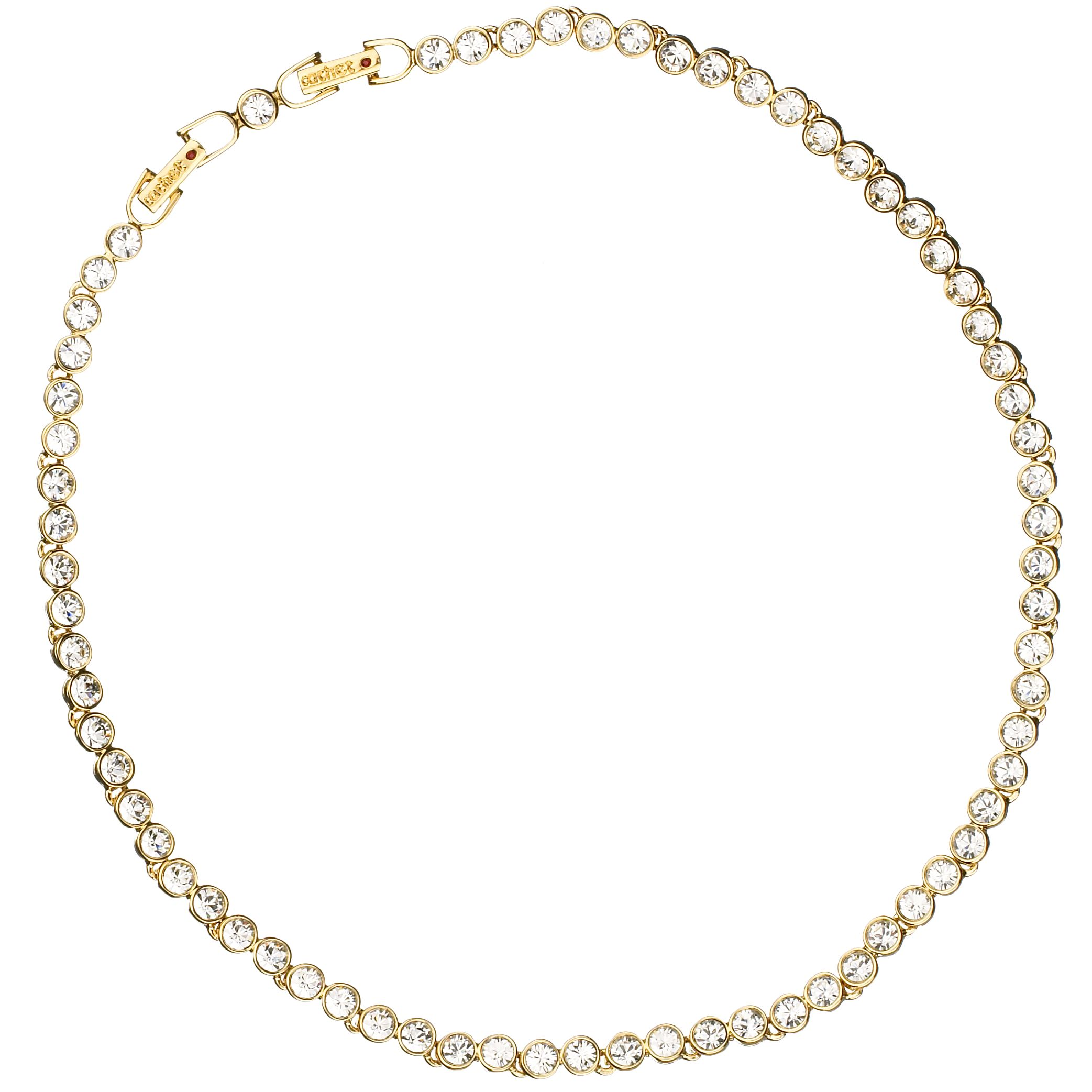 Cachet London Gold Plated Crystal Tennis Necklace
