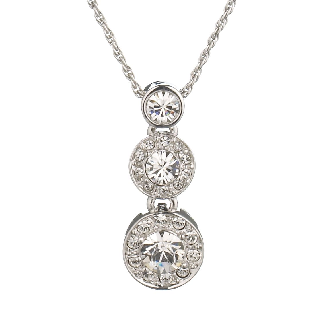 Cachet London Rhodium and Swarovski Crystal Diablo Necklace, Silver
