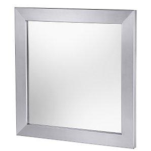 John Lewis Zack Zenta Mirror, Stainless Steel, H40 x W40cm