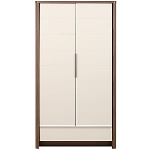Moderne Wardrobe, White/Walnut