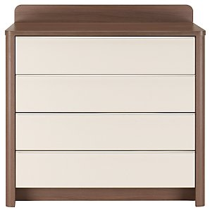 Moderne Chest Of Drawers, White/Walnut
