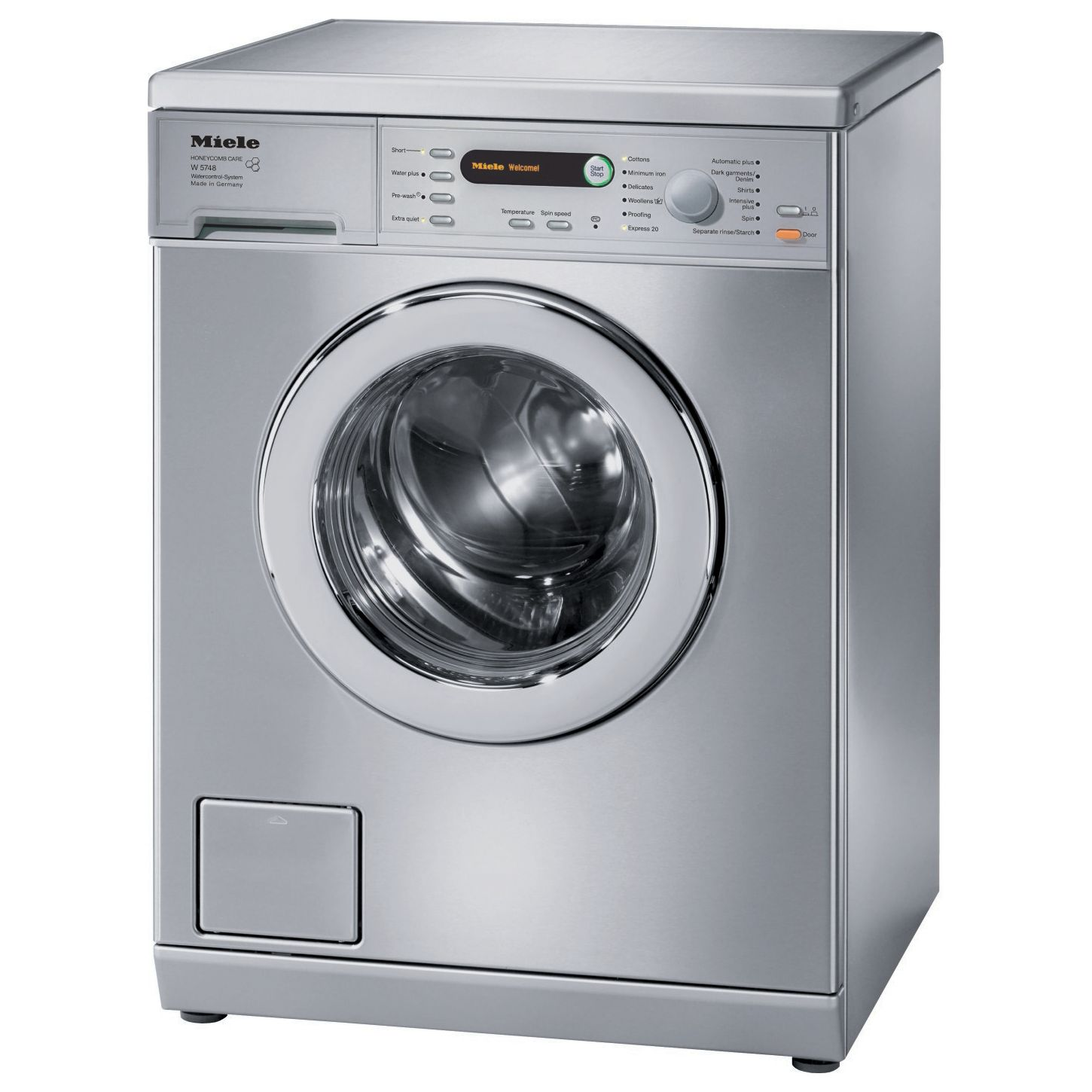 Miele W5748 Washing Machine, 7kg Load, A+++ Energy Rating, 1400rpm Spin, Stainless Steel