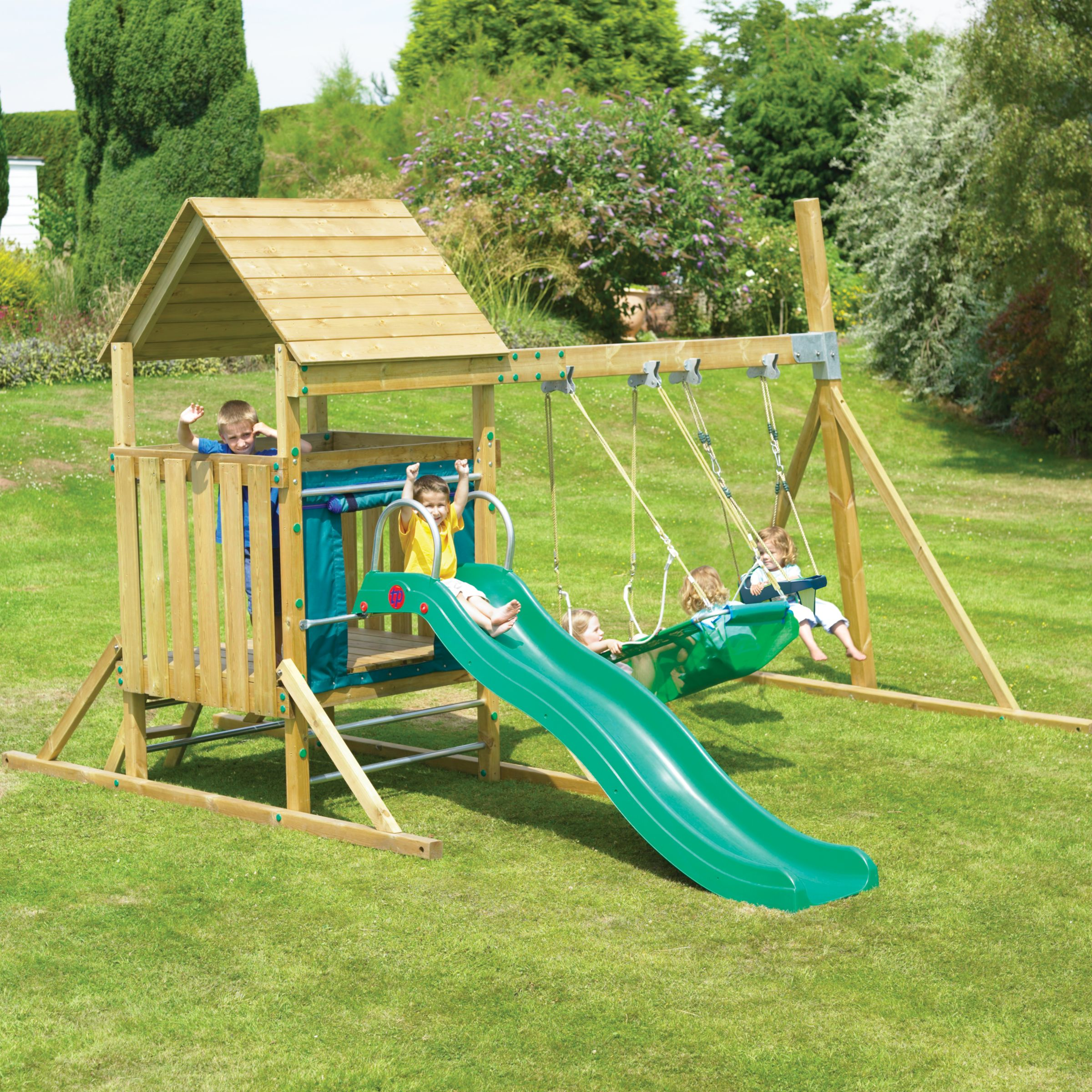 TP Kingswood Low Tower and Swing Set