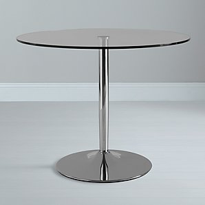 John Lewis Pearl Round Table, Clear Glass