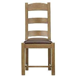 John Lewis Ardennes Leather Dining Chair, Cognac