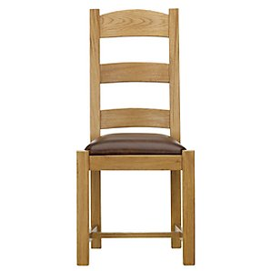 John Lewis Ardennes Leather Dining Chair, Sarlat