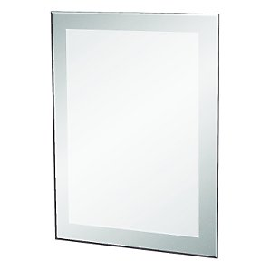 Frosted Edge Mirror, 70 x 50cm