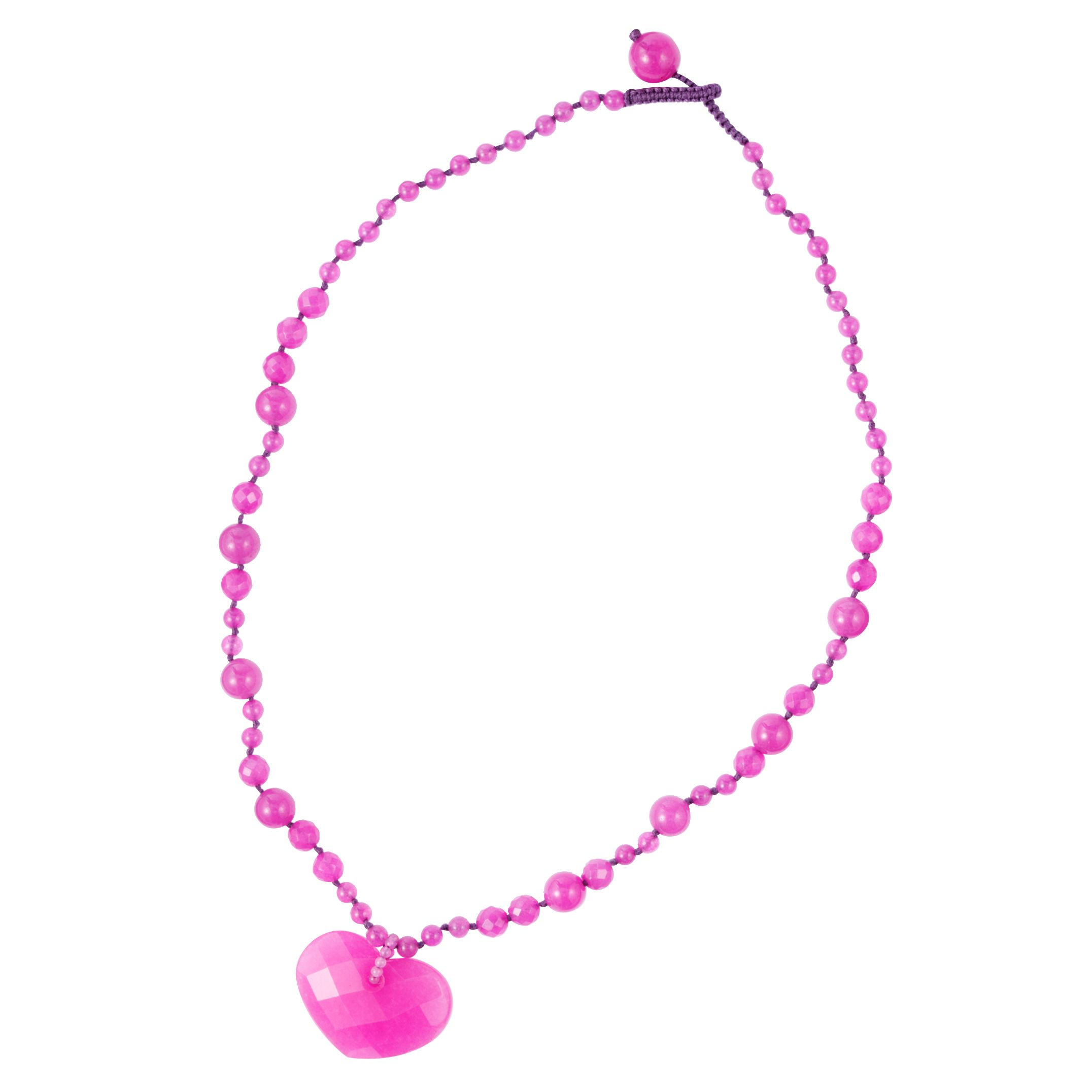 Lola Rose Small Faceted Heart Pendant Necklace, Pink