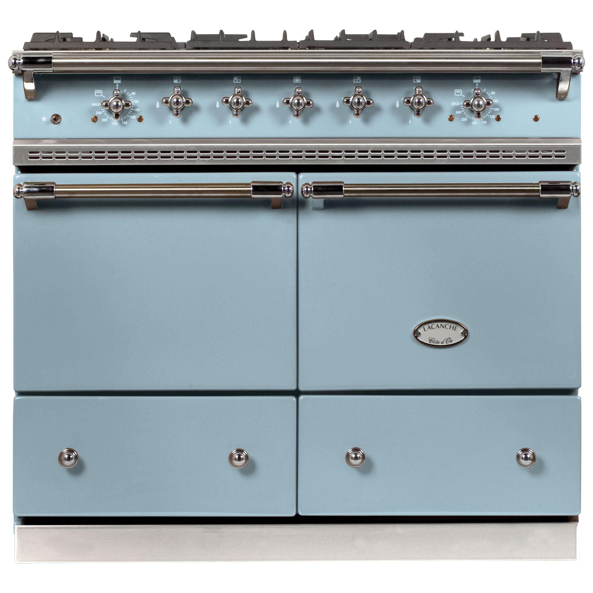 Lacanche Cluny LG1052GCT Dual Fuel Range Cooker, Delft Blue / Chrome Trim at John Lewis