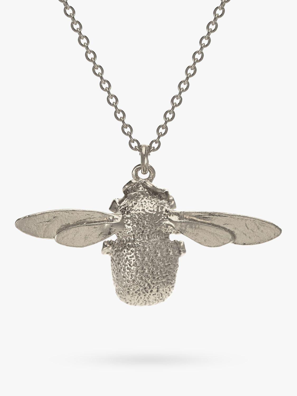 Alex Monroe Bumble Bee Necklace, Silver