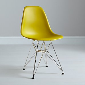 Vitra Eames DSR Side Chair, Mustard