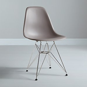 Vitra Eames DSR Side Chair, Mauve Grey