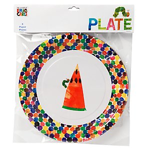 Hungry Caterpillar Paper Plates, 23cm