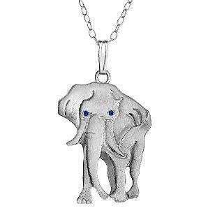 Cheeky Monkey Elephant Pendant Necklace