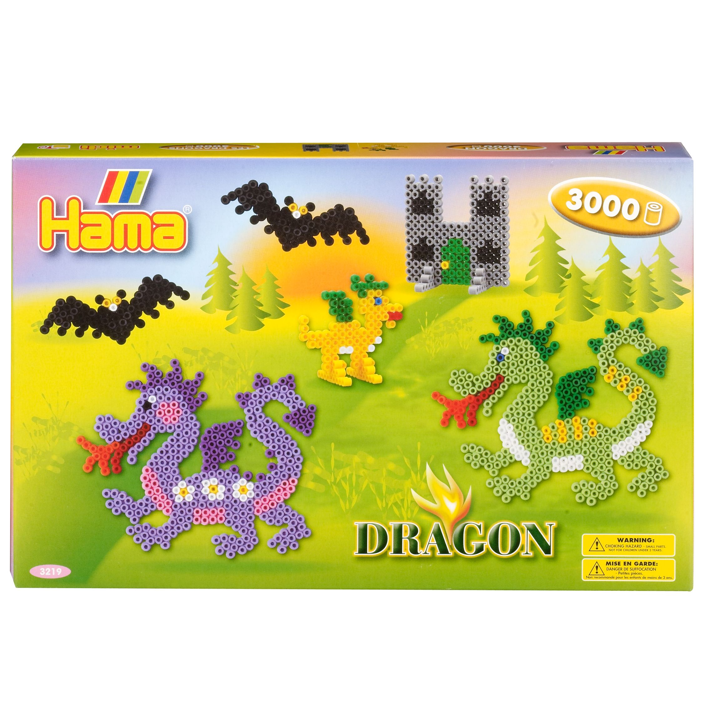 Hama Dragon Kits, 3000 Beads