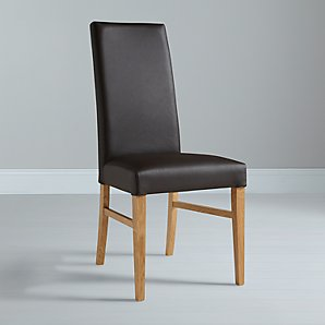 John Lewis Vanessa Brown Leather Chair