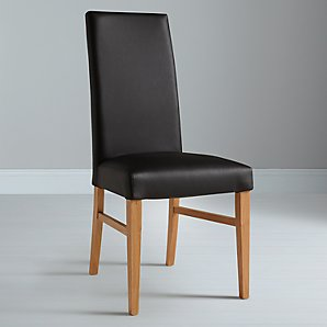 John Lewis Vanessa Black Leather Chair