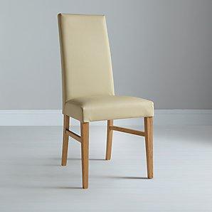 John Lewis Vanessa Cream Leather Chair