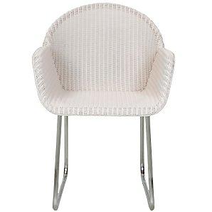 John Lewis Golf Cane Dining Chair, Cream
