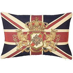 Hampton Union Jack & Crest Cushion from John Lewis