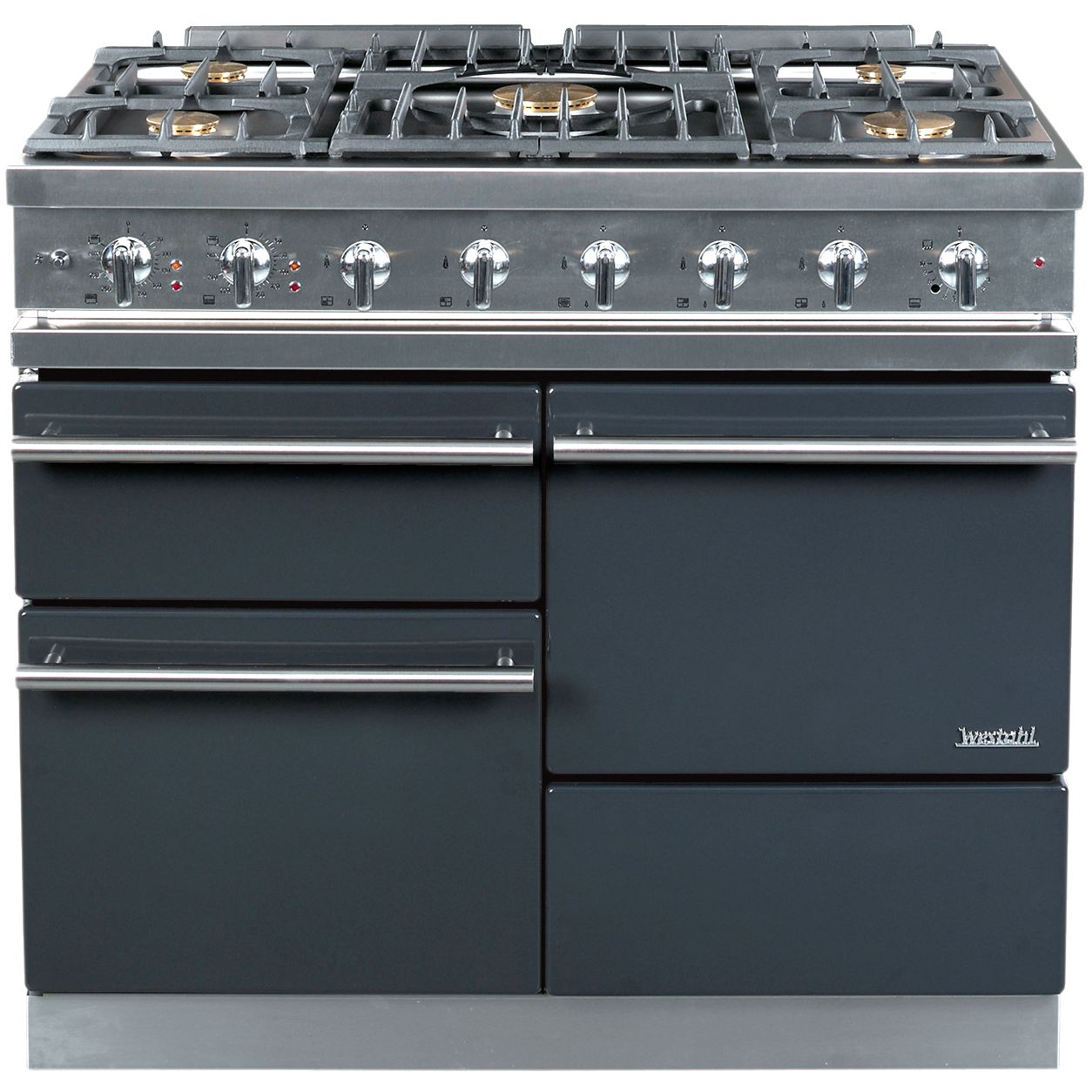 Westahl Macon WG1053GECT Dual Fuel Cooker, Anthracite at John Lewis