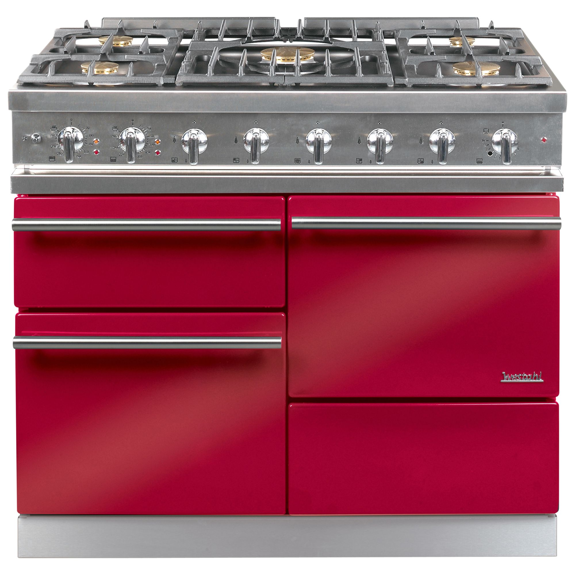 Westahl Macon WG1053GECT Dual Fuel Cooker, Chinese Red at John Lewis